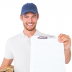 Courier delivery service on tools